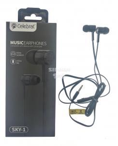 Наушники вакуумные с микрофоном Celebrat SKY-1