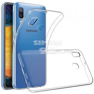 Чехол задник для Samsung A20/30 гель прозр. тонкий