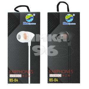 Наушники вакуумные с микрофоном Blue Spectrum BS-04