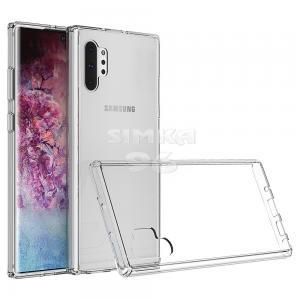 Чехол задник для Samsung Note 10+ гель прозр. плотный