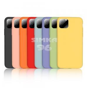 Чехол задник для iPhone 11 силикон цветной