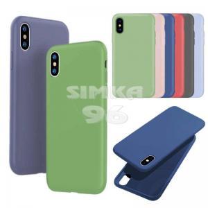Чехол задник для iPhone XR силикон цветной