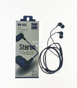 Наушники Bass NW-002  вакуумные с микрофоном