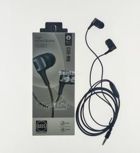 Наушники Bass NW-003  вакуумные с микрофоном