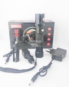 Фонарь+лазер SWAT металл 2 в 1 ( на аккумуляторе и батарейках)