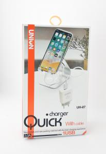 СЗУ 2 в 1 Union UH-07 iPhone 5 3.0A