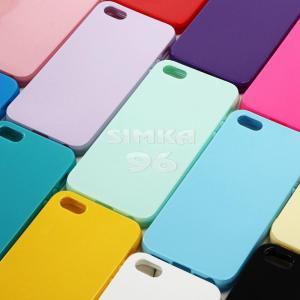 Чехол задник для iPhone 5 силикон цветной