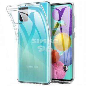 Чехол задник для Samsung A41 гель прозр. плотный