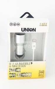 АЗУ Union UB-01 iPhone 5 2USB выхода 2.4А