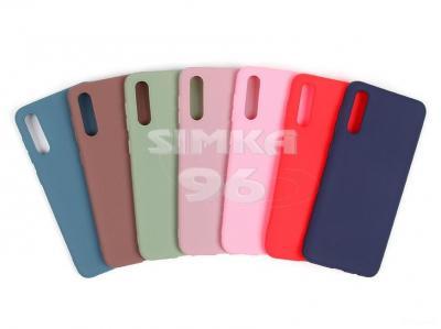 Чехол задник для Samsung A11 силикон цветной