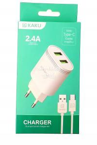 СЗУ KAKU KSC-372 Type-C 2 выхода USB 2.4А