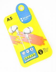 Наушники PCPRO A5 вакуумные с микрофоном