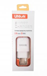 СЗУ  1 выход USB  2.1А  UNION (в упаковке)