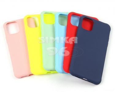 Чехол задник для iPhone 12 mini силикон цветной