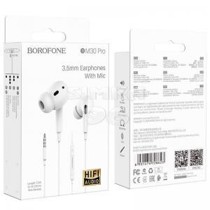 Наушники BOROFONE M30 PRO вакуумные c микрофоном
