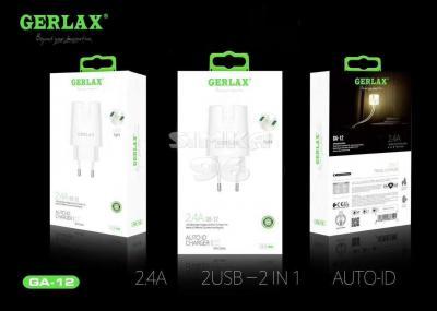 СЗУ 2 в 1 GERLAX GA-12 MicroUSB 2.4A LED