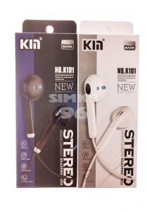 Наушники KM K-101 не вакуумные с микрофоном