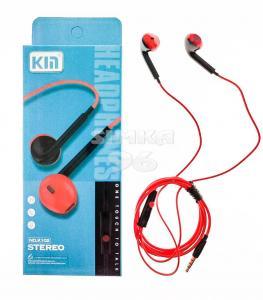 Наушники KM K-102 не вакуумные с микрофоном