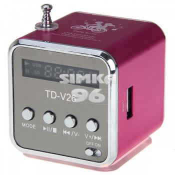 Колонки MP3 TD-V26 (MP3+радио)