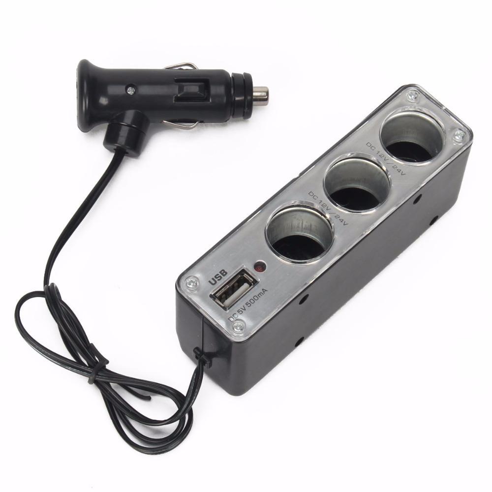 Тройник для прикуривателя (+USB)