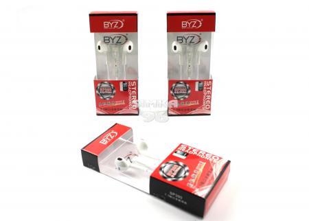 Наушники вкладыши с микрофоном  BYZ- SP390 с регулятором громкости